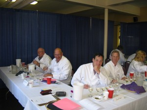 Wine judges at the New York State Fair