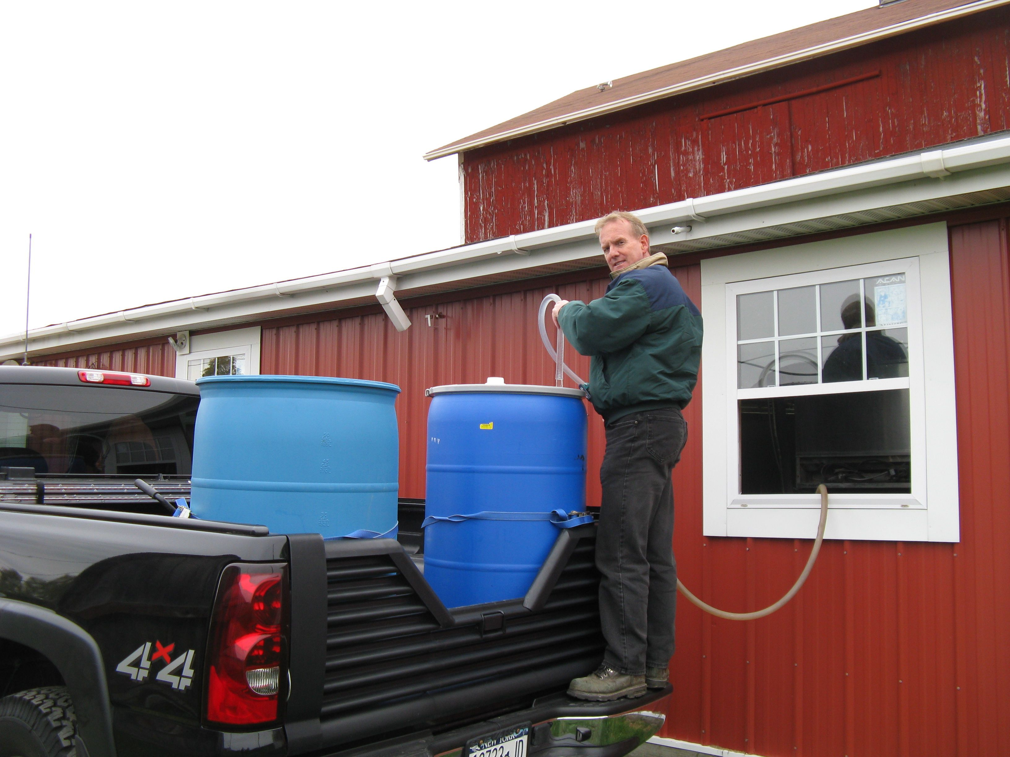 Loading and Transporting Cayuga Juice from Randall-Standish Vineyards