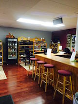 Wine tasting bar at Lakeland Winery